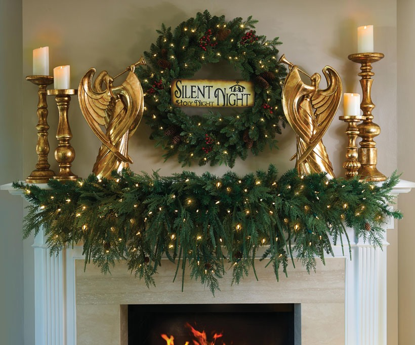 Christmas Decorating Ideas-Decorate with Nature-Silent Night Wreath