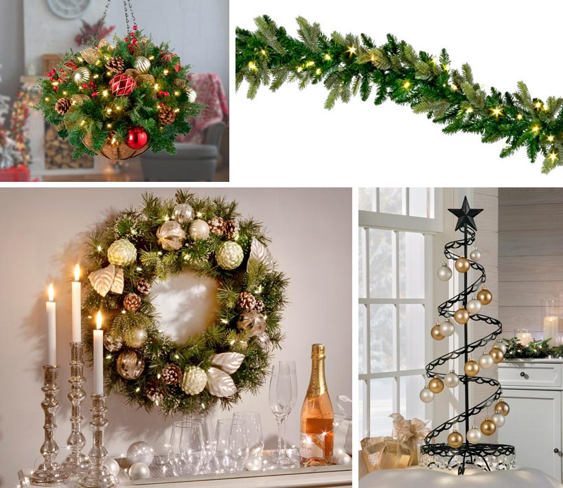 Christmas Decorating Ideas-Small Spaces-How To Display Ornaments-Variety