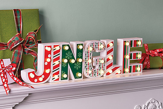 Jingle Mantel Christmas Sign