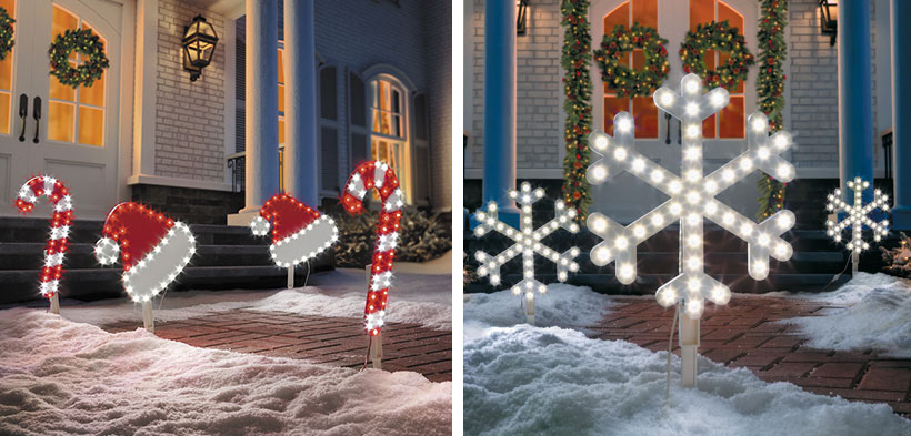 Dress Your Home to Impress with These Outside Christmas Decorations-Pathway Markers