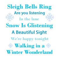 Sleigh Bells Ring Framed Song