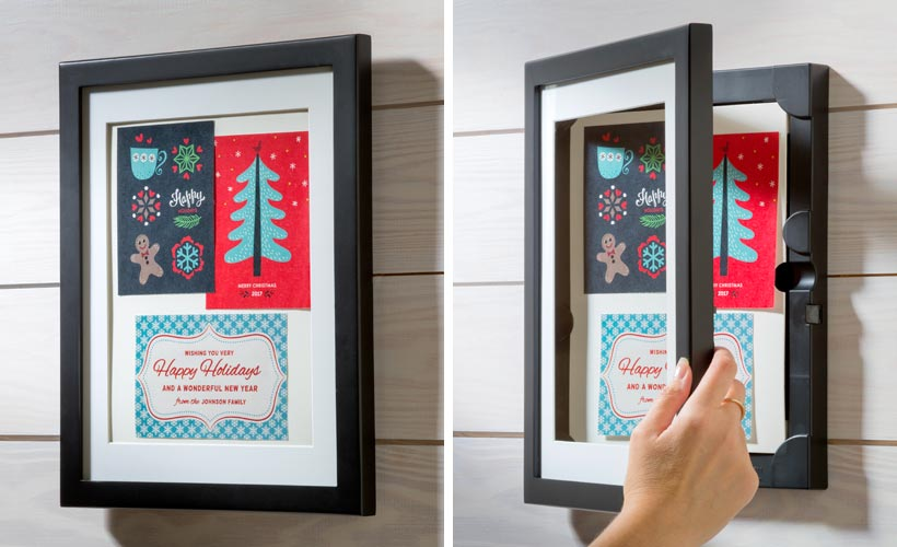 How to Decorate a Small Spaces for Christmas-Hang Christmas Cards