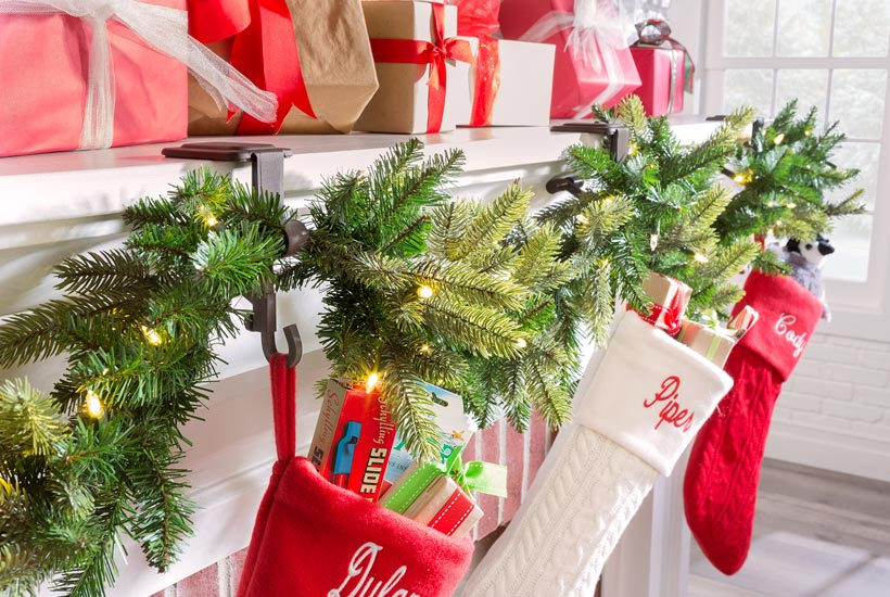 How to Decorate a Small Spaces for Christmas-Hang Stockings
