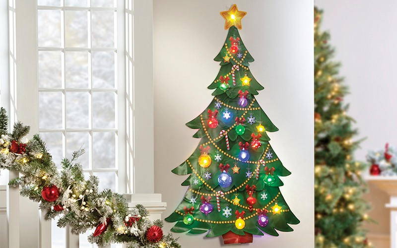 decorating an apartment for christmas wall tree