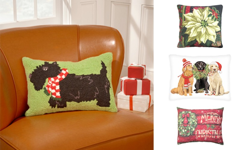 decorating and apartment for christmas christmas pillows