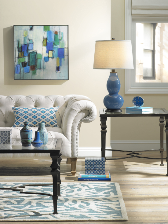 Blue Colorful Living Room Decorating