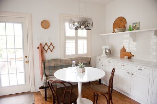 Our bright, white, open kitchen