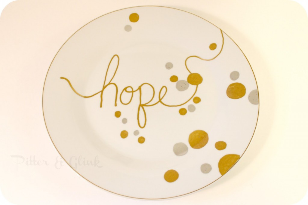 New Year Knock Off Plate