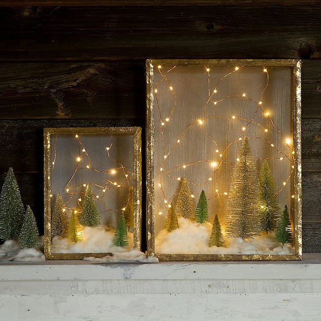 christmas shadowbox diy