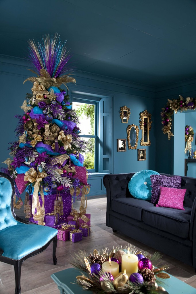 jewel tone christmas decor