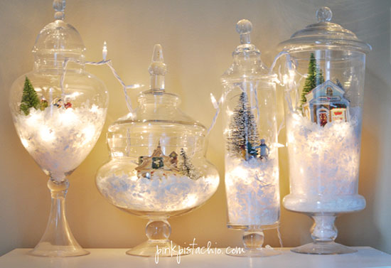 snow globe with fairy lights