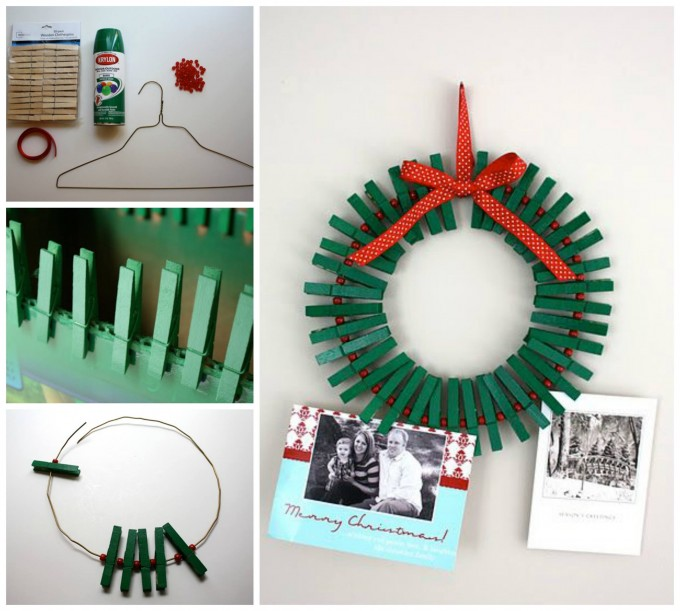 Easy Christmas Card Holder...these are the BEST DIY Holiday Decorations & Craft Ideas!