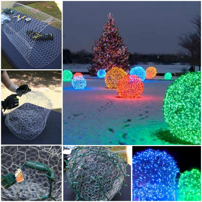 How to make Christmas Light Balls....these are the BEST DIY Homemade Christmas Decorations & Crafts!