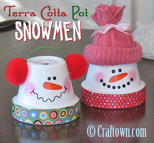 Terra Cotta Pot Snowmen...these are the BEST DIY Christmas Craft Ideas!