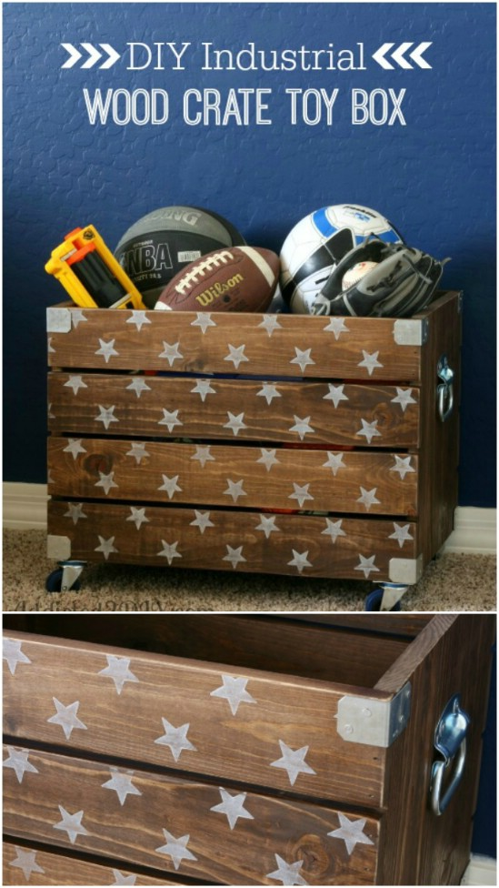 DIY Toy Box On Casters
