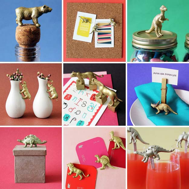 Gold DIY Projects and Crafts - Things You Can Make with Gold Animal Toys - Easy Room Decor, Wall Art and Accesories in Gold - Spray Paint, Painted Ideas, Creative and Cheap Home Decor - Projects and Crafts for Teens, Apartments, Adults and Teenagers http://diyprojectsforteens.com/diy-projects-gold