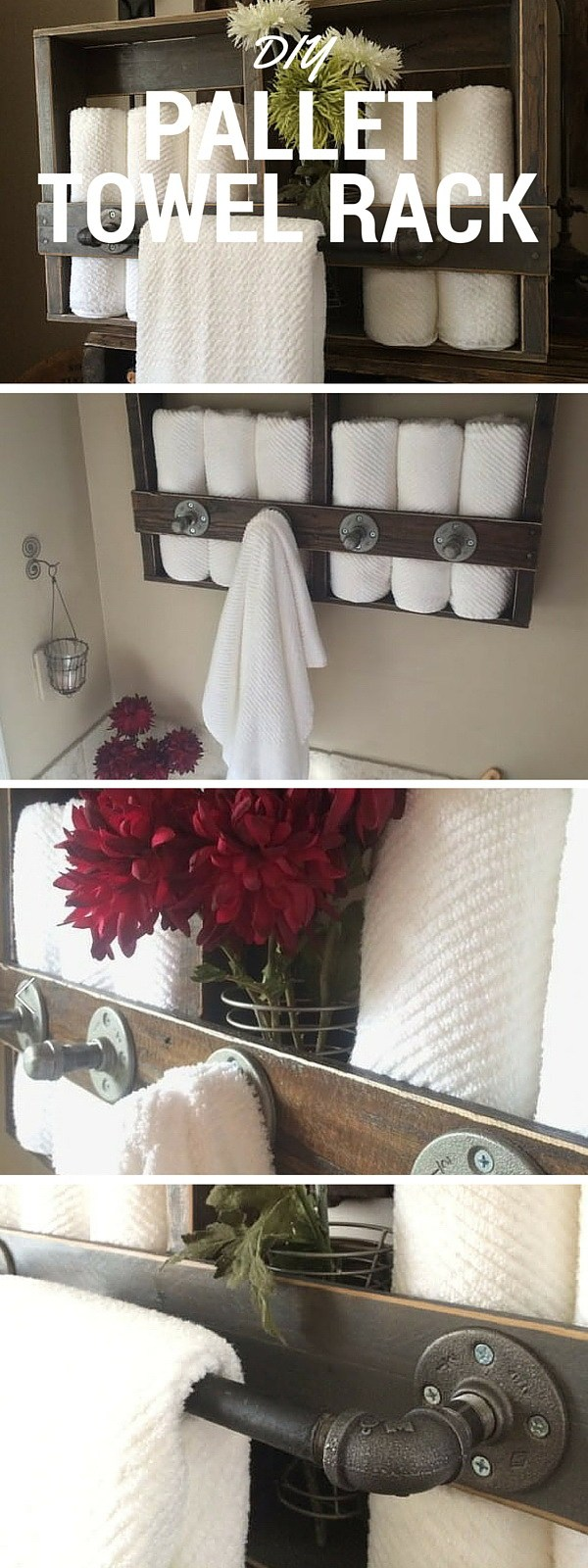 Shelves and Racks: Re-purposing old pallets to make these shelves and racks! They give an instant rustic accent to your decor.