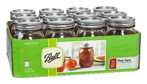 Ball Pint Regular Mouth Jars and Lids
