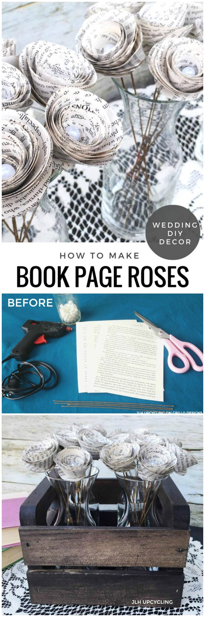 Book Page Roses Cheap DIY Projects For Your Home Decoration