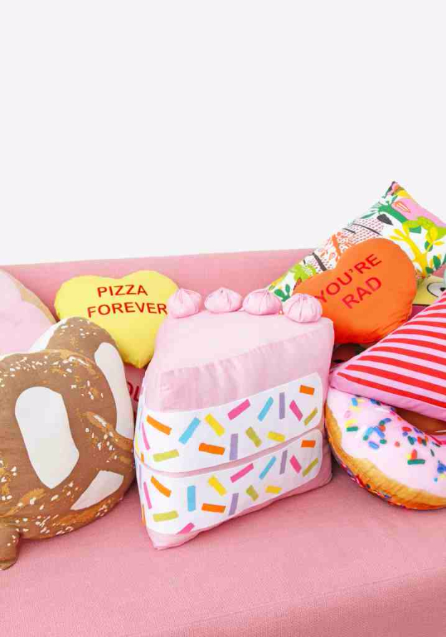 Best DIY Gifts for Girls - DIY No Sew Funfetti Cake Slice Pillow - Cute Crafts and DIY Projects that Make Cool DYI Gift Ideas for Young and Older Girls, Teens and Teenagers - Awesome Room and Home Decor for Bedroom, Fashion, Jewelry and Hair Accessories - Cheap Craft Projects To Make For a Girl for Christmas Presents http://diyjoy.com/diy-gifts-for-girls