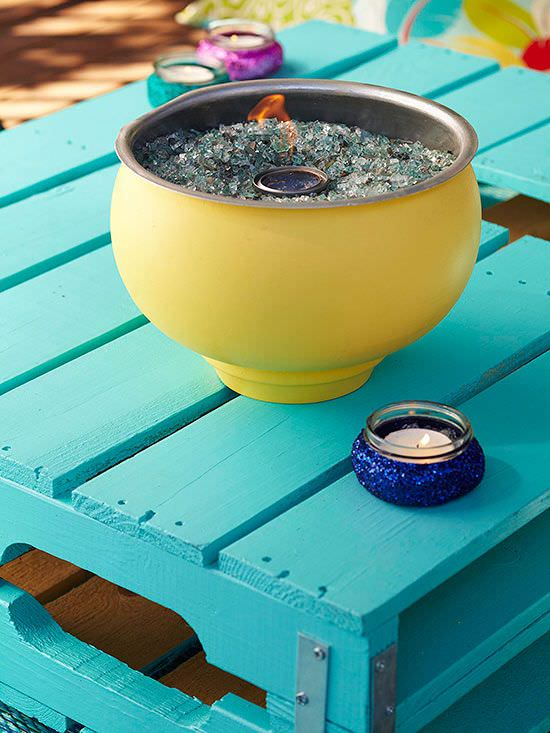 DIY table top fire pit-5