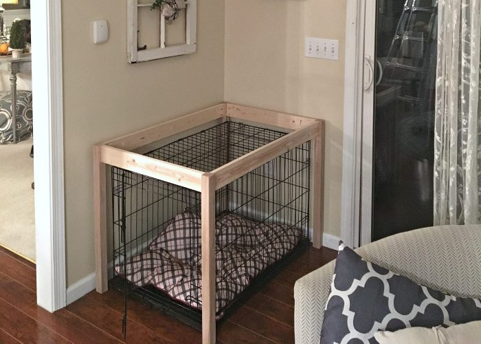 Dog Crate DIY Hack Table Build by SnazzyLittleThings.com