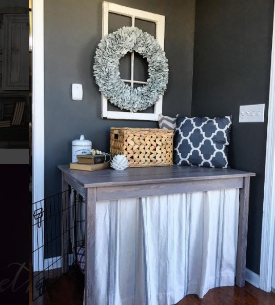 Dog Crate DIY Hack - Table by SnazzyLittleThings