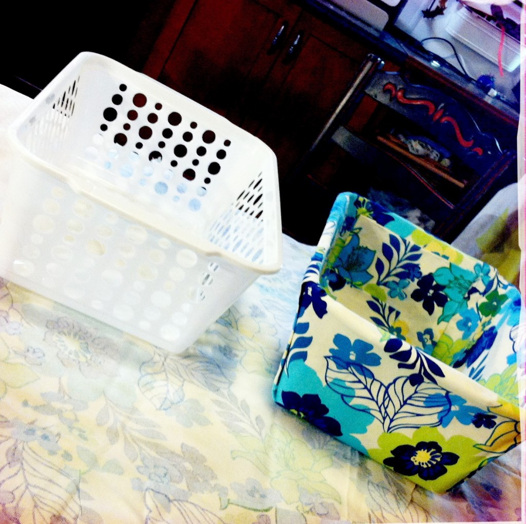 Easy-to-make Fabric Covered Bins