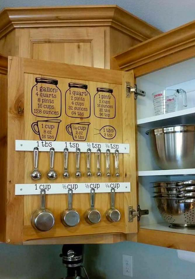 7 DIY kitchen cupboard Organizing ideas and hacks! Wether you have a small kitchen or live in a rental home, these tips will help you organize your cupboards like a pro and on the cheap! Simple and easy ways to help you organize your entire kitchen with containers, jars and labels and more! Get those cupboards, draws and pantry under control once and for all.