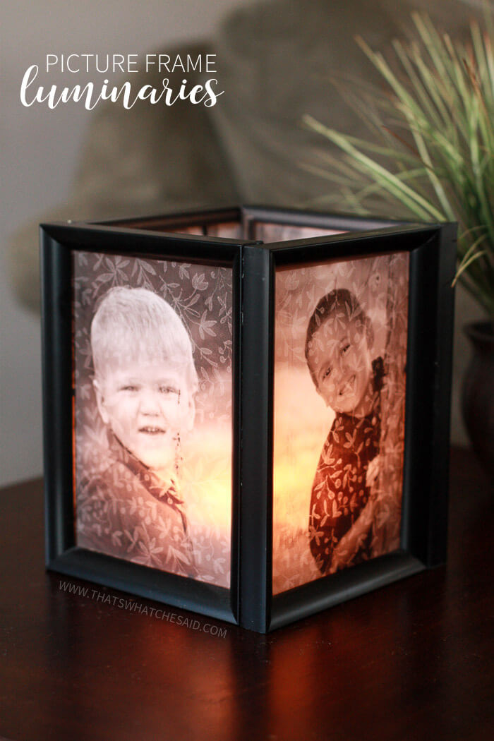 Marvelous Picture Frame Luminaries