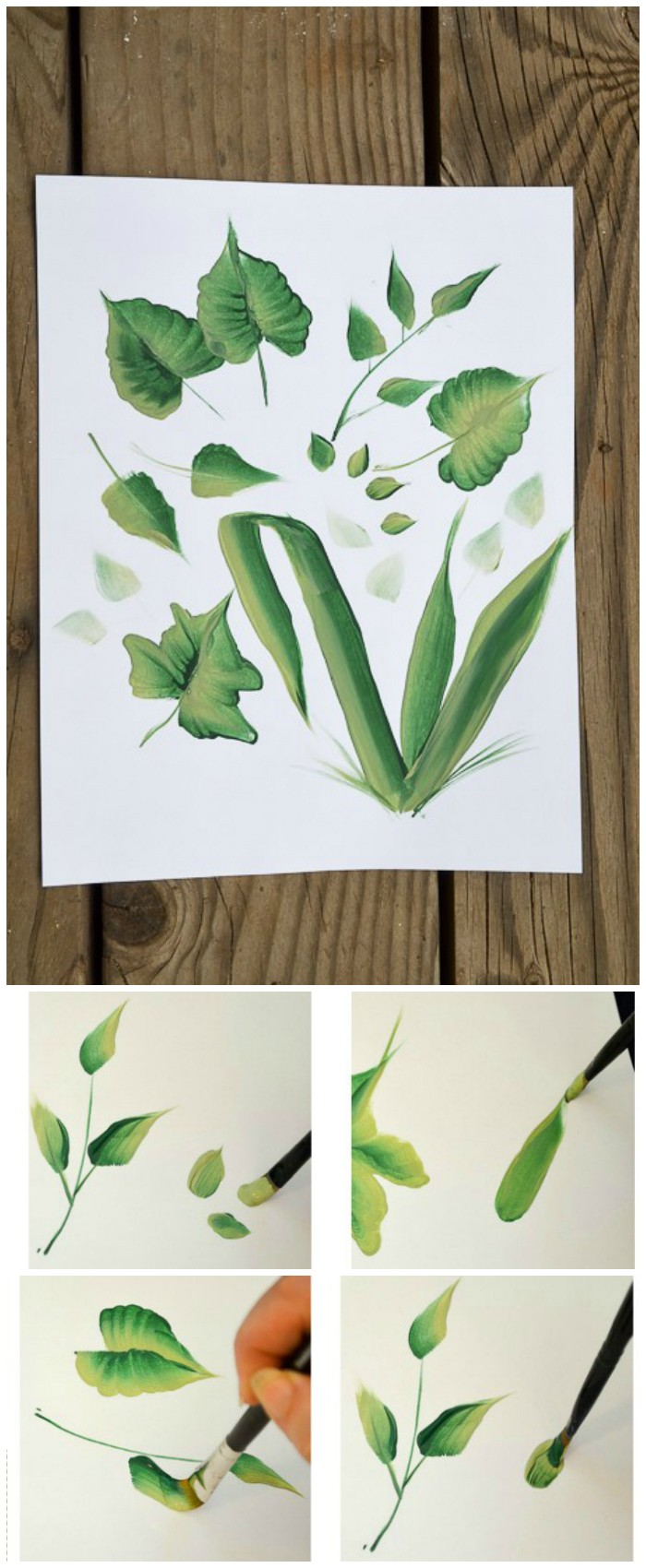 Simple Painted Leaves Wall Art Cheap DIY Projects For Your Home Decoration