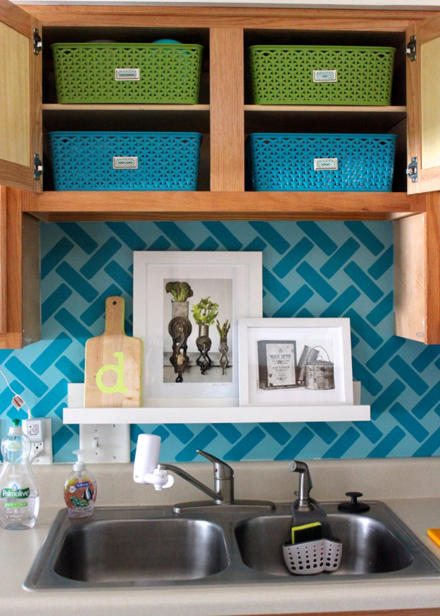 DIY Organizing Ideas for Kitchen - Storage For Little Upper Cabinets - Cheap and Easy Ways to Get Your Kitchen Organized - Dollar Tree Crafts, Space Saving Ideas - Pantry, Spice Rack, Drawers and Shelving - Home Decor Projects for Men and Women http://diyjoy.com/diy-organizing-ideas-kitchen