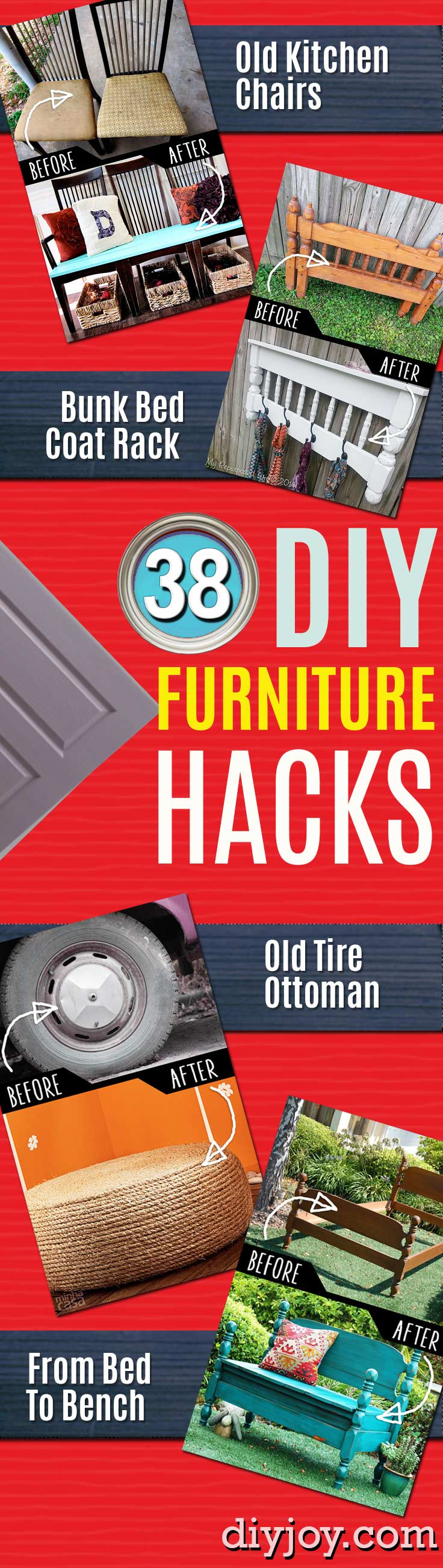 DIY Furniture Hacks and Cool Ideas for Repurposing Stuff for Home Decor. IKEA hacks and ideas for creative decorating. - Easy Hacks for Transforming Old Furniture on The Cheap - Quick Ideas for Creative Home Decor