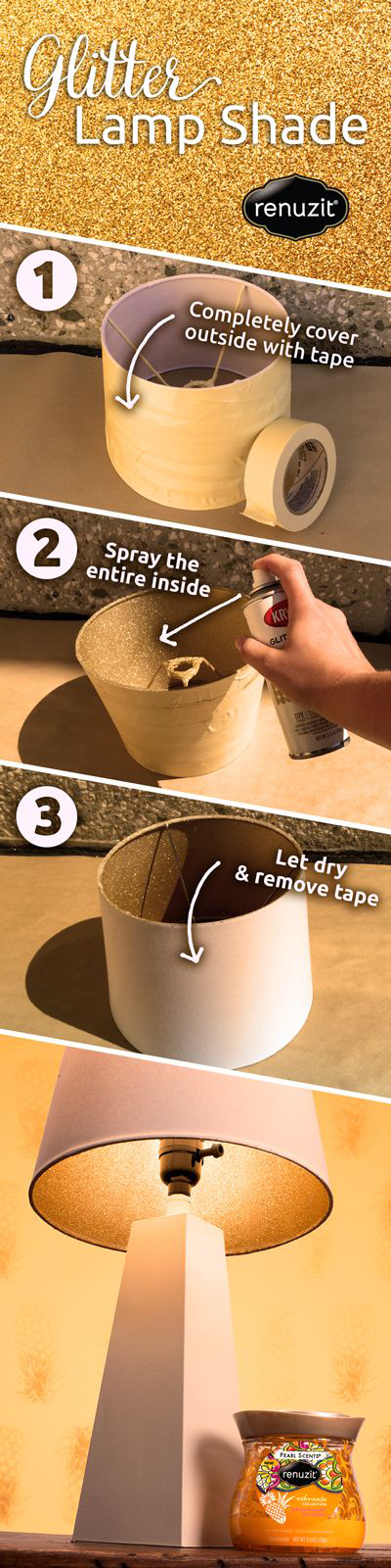 diy-gliter-lamp-shade