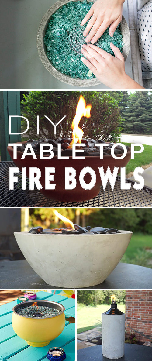 DIY Tabletop Fire Bowls