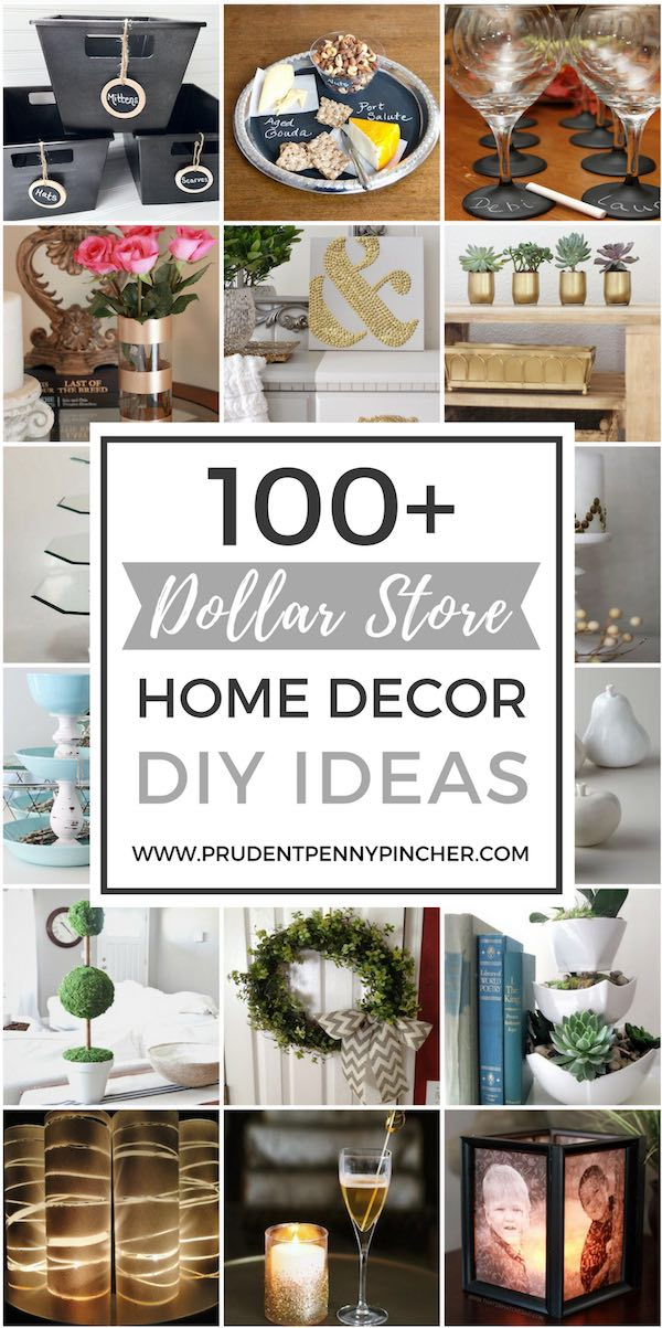 100 Dollar Store Home Decor DIY Ideas