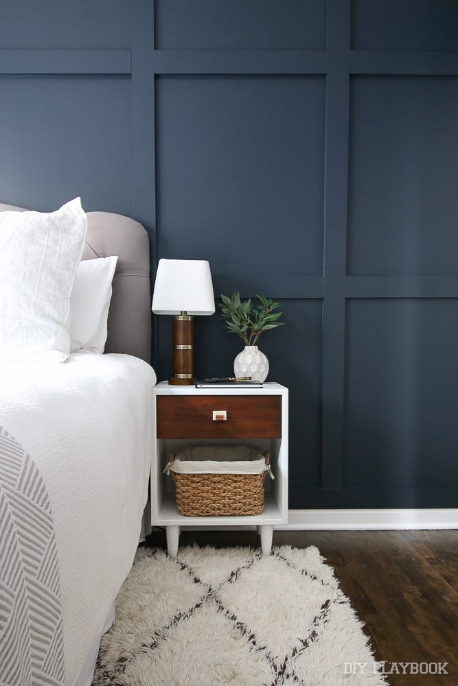 An easy way to transform your space is to find a piece of furniture you love, like this nightstand in our guest bedroom.