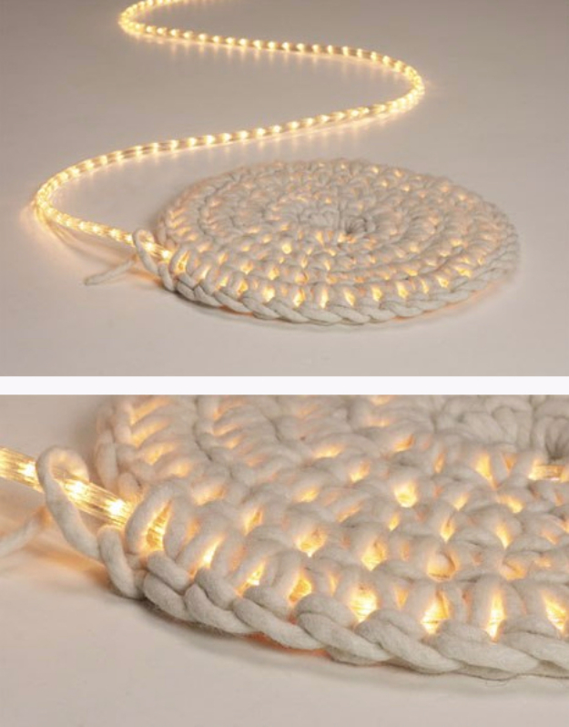 String Light DIY ideas for Cool Home Decor | DIY LED Carpet Light are Fun for Teens Room, Dorm, Apartment or Home | http://diyprojectsforteens.com/diy-string-light-ideas/