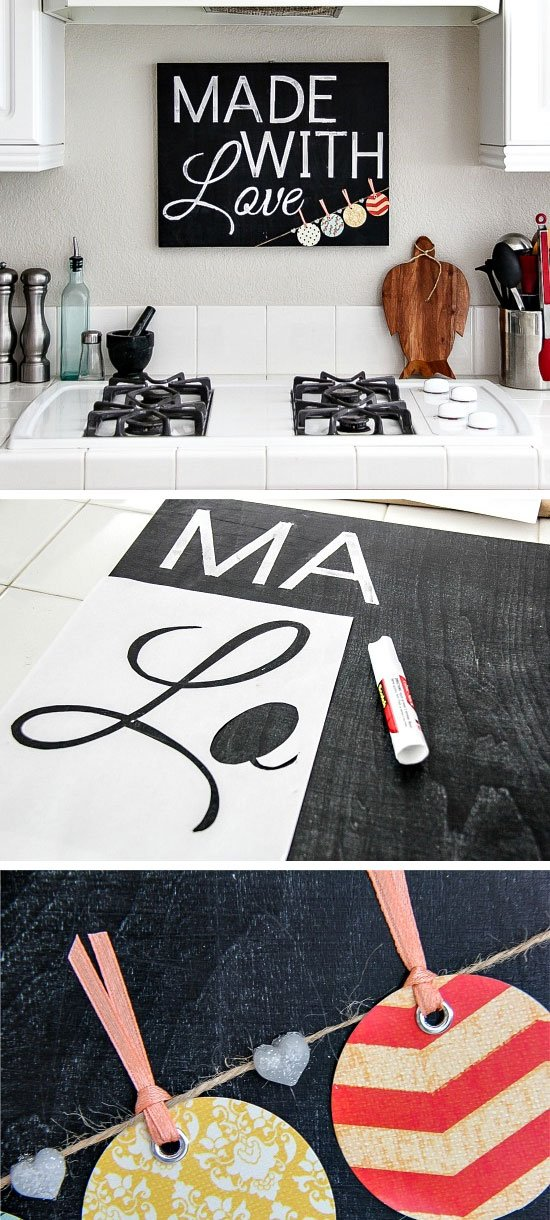 Chalkboard Kitchen Sign | Click Pic for 28 DIY Kitchen Decorating Ideas on a Budget | DIY Home Decorating on a Budget