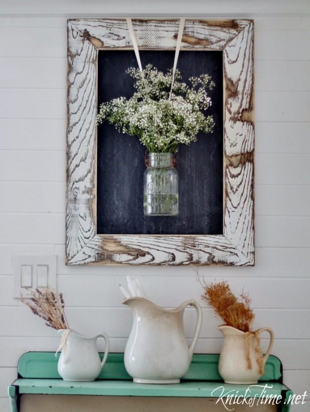 DIY Farmhouse Style Decor Ideas - DIY Farmhouse Rustic Wooden Frame - Rustic Ideas for Furniture, Paint Colors, Farm House Decoration for Living Room, Kitchen and Bedroom http://diyjoy.com/diy-farmhouse-decor-ideas