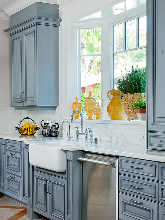 Farmhouse Kitchen Sink Painted Cabinets