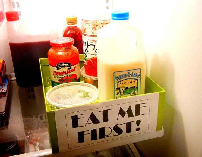 "Add and ""Eat Me First"" box to your fridge to avoid forgotten food"