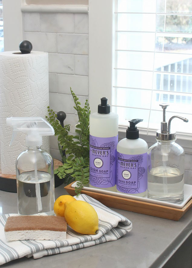 Spring cleaning supplies and spring cleaning tips.