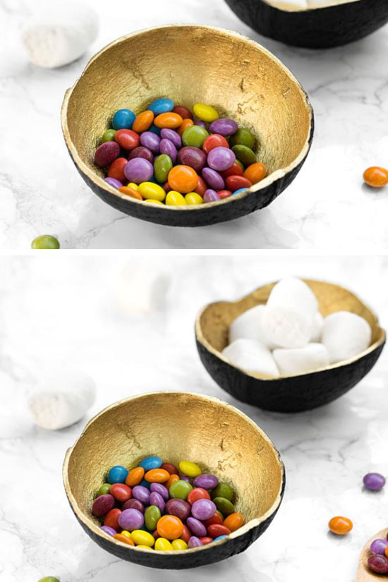 Upcycle Coconut Shells into Candy Bowls | DIY Kitchen Decorating Ideas on a Budget | DIY Home Decorating on a Budget