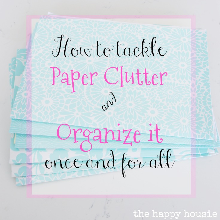 get your whole house organized with this 10 week organizing challenge; week one is all about paper clutter and setting up a command center - details at the happy housie