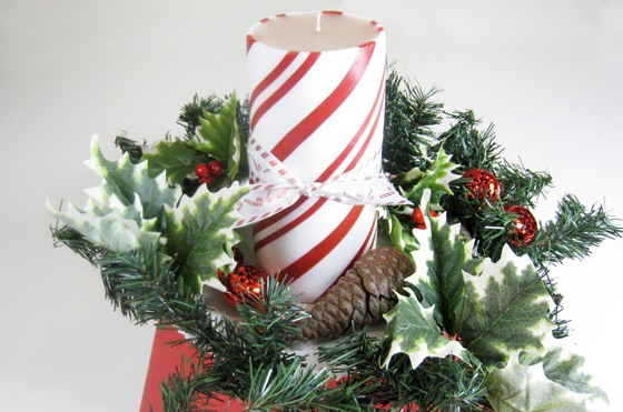 Candle Wreath Christmas Centerpiece