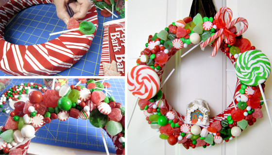 Gingerbread House Christmas Wreath