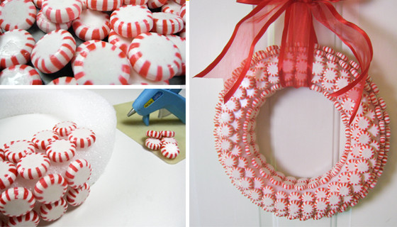 Peppermint Candy Cane Christmas Wreath