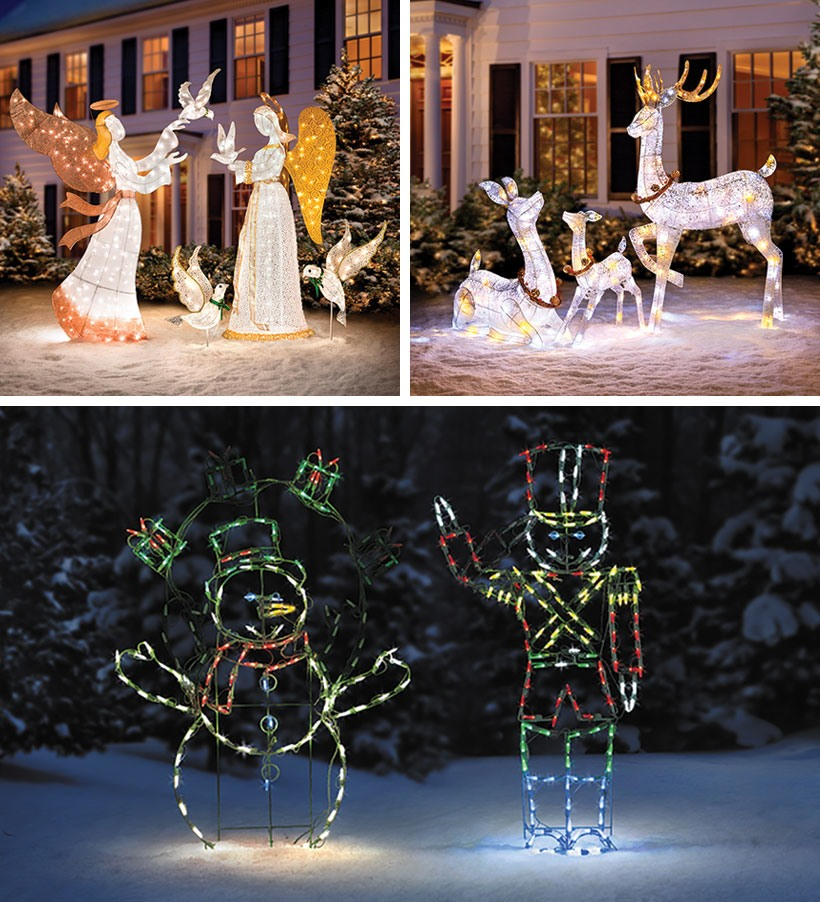 Dress Your Home to Impress with These Outside Christmas Decorations-Front Yard