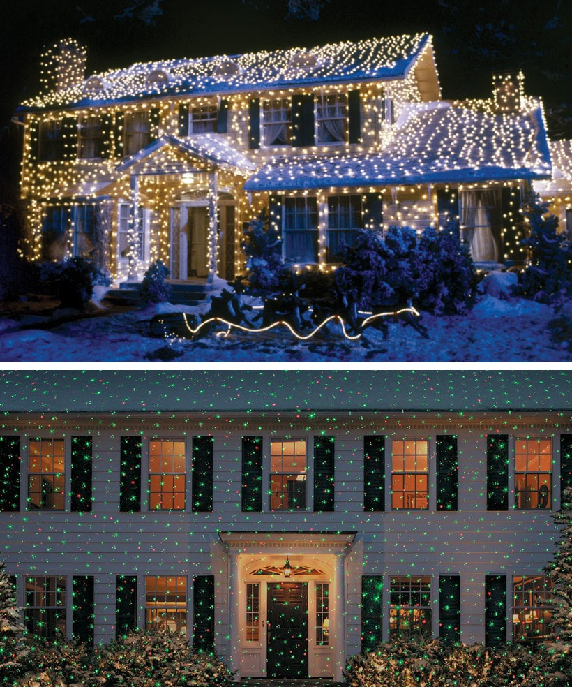 Dress Your Home to Impress with These Outside Christmas Decorations-Lights and Laser Show